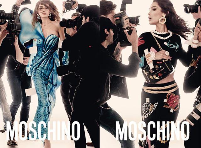 A Moschino korunk legismertebb Instacelebjeivel, Gigi és Bella Hadiddal készített valami hasonlót 2017 nyarán.