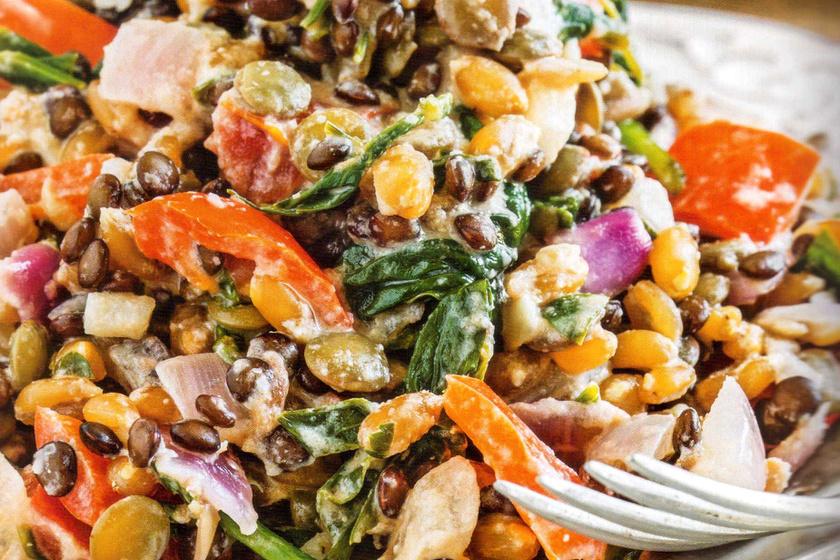 Fehérjedús, vegán főétel tahinivel: az is imádni fogja, aki húst eszik