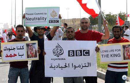 Királypárti tüntetés Bahreinben