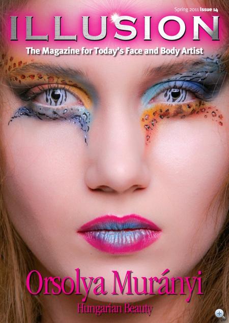 Az Illusion magazin címlapja, Murányi Orsolyával