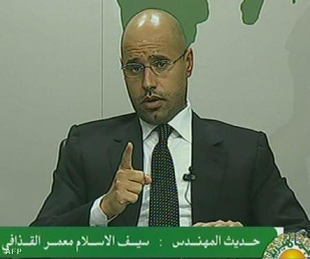 Szaif al-Iszlam Kadhafi a Líbiai TV-ben