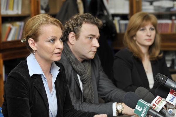 Szűcs Viktória - BDDSZ elnök, Vörösmarty Attiila (Fidesz) és Bábi Gabriella (Fidesz)