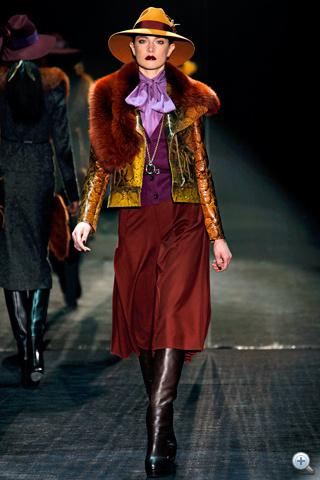 Gucci: piton és szőrme tobzódás                         Forrás: style.com