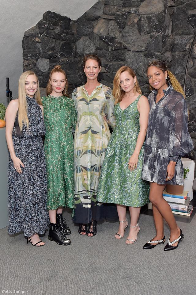 Amanda Seyfried,  Kate Bosworth, Christy Turlington, Mena Suvari és Naomie Harris a H&M Conscoius Exclusive kollekciójának Los Angeles-i bemutatóján.