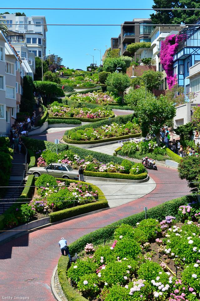 Amerika egyik legszebb városának tartott San Francisco egyik leglátogatottabb helyszíne a Lombard Street, ami hajtűkanyarairól híres.