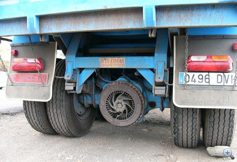Teherautó diffivel egybeépített elektrodinamikus retarder
