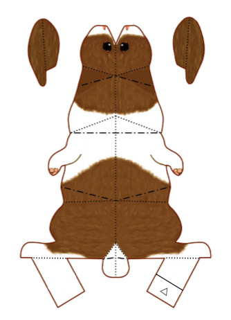 barna fülű nyuszi szabásminta