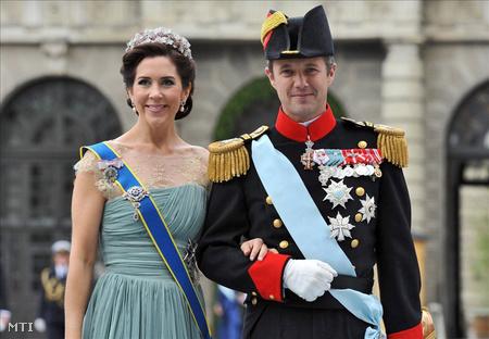 2010. június 19-i kép Frigyes dán trónörökös hercegről és a feleségéről, Mária hercegnőről