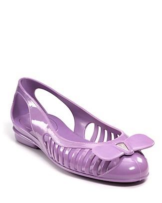 Salvatore Ferragamo Jelly Shoes, $140.