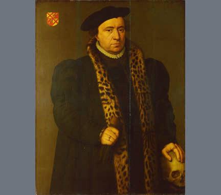 Hans Holbein: Férfi koponyával