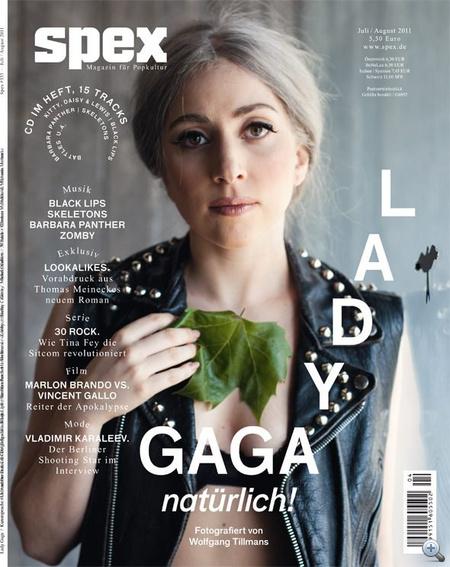 Az Spex magazin borítója az őszbe csavarodott Lady Gagával