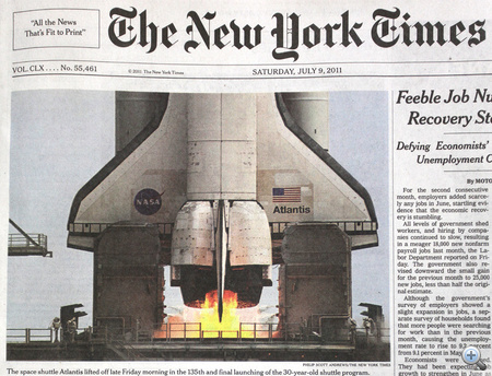 A szombati The New York Times.