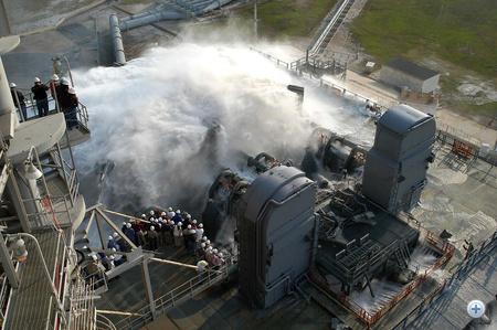 AZ SSS tesztelése - a képre klikkelve nagyobb verzióban is megnézhető (Fotó: NASA/KSC)