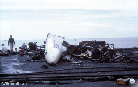 RA-5C Vigilante roncsai a pusztító tűz után