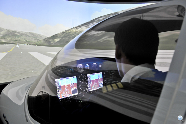 A repülés élményét pontosan visszaadja a szimulátor