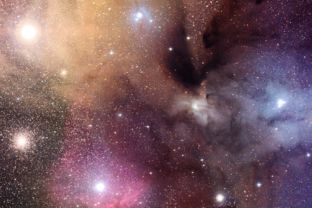 A Rho Ophiuchi csillagkeletkezési terület (apod.nasa.gov, Adam Block/KPNO Visitor Program/NOAO/AURA/NSF).