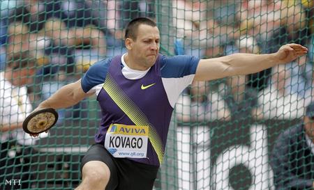 Kővágó Zoltán az atlétikai Gyémánt Liga londoni viadalának férfi diszkoszvetésében versenyez
