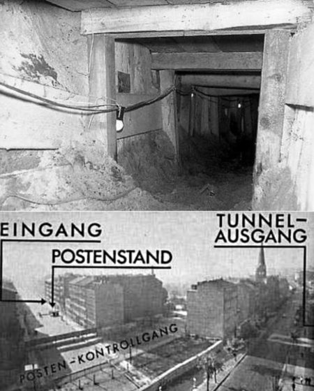 145 méter hosszú alagút keletről nyugatra