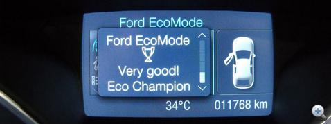 Óvatosan vezetve elismeréssel jutalmaz: Eco Champion a besorolásom.