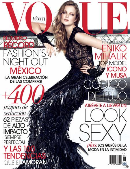 Mihalik Enikő a szeptemberi Vogue Mexico címlapján..