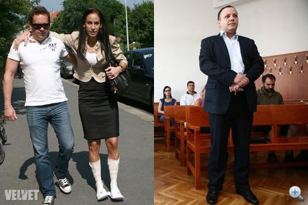 Az első tárgyalás: június 16-án Palácsik bekötött lábbal jelent meg, Damu fehér ingben.