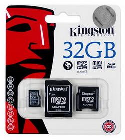 Kingston 32GB microSDHC Class4 SDC4 32GB 2ADP memoriakartya