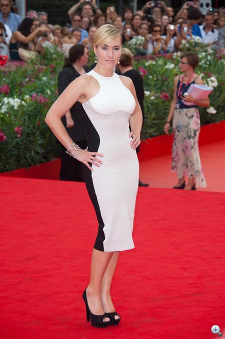 Kate Winslet a Velencei Filmfesztiválon.