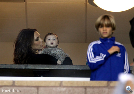 Az egész Beckham család megnézte David Beckham meccsét.