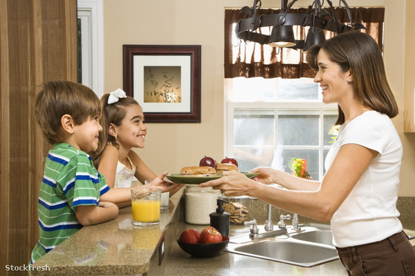 stockfresh 31934 mom-giving-kids-breakfast sizeS