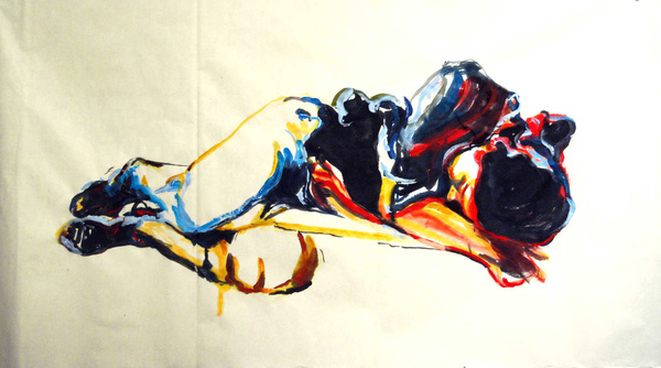 Tales from The Little Girl I.aquarelle, ink on ricepaper 70x137c