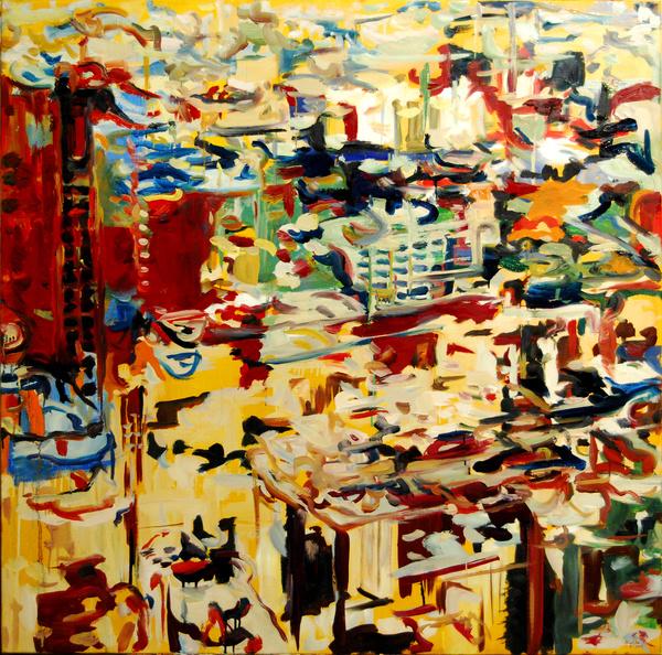 Metropolis  Eternal Garden II. 120x120cm oil on canvas 2011
