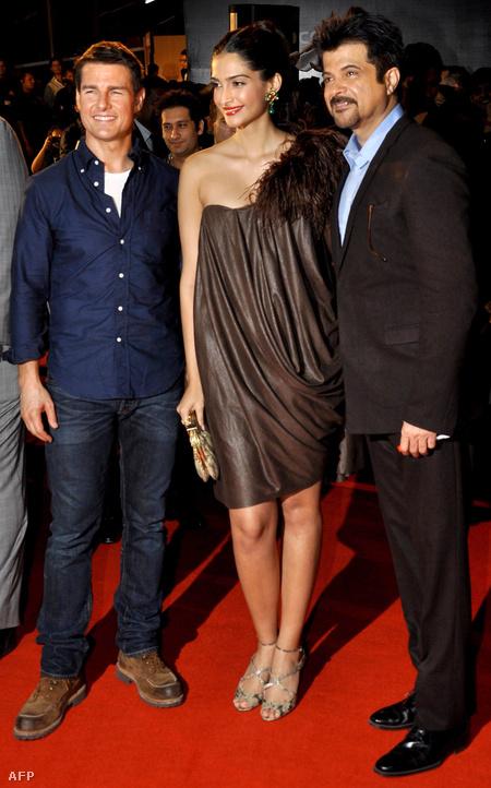 Tom Cruise, Anil Kapoor és annak lánya, az ugyancsak színész Sonam Kapoor
