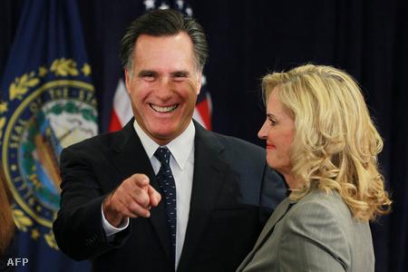 Mitt Romney feleségével