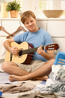 stockfresh 74775 lazy-guy-playing-guitar sizeM