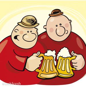 stockfresh 414067 guys-drinking-beer sizeM