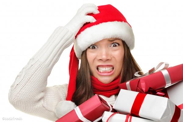 stockfresh 1270188 christmas-stress---busy-santa-woman sizeS