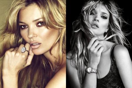 Kate Moss hasonló kampányfotói