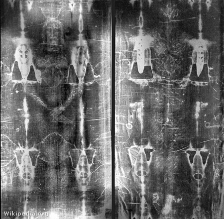 612px-Full length negatives of the shroud of Turin