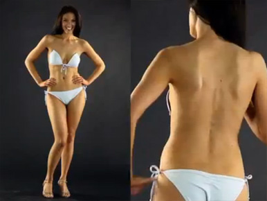 Mellre ragasztott bikinivel támad a bögyös valóságshow csaj