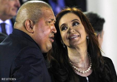 Hugo Chávez és Cristina Fernández de Kirchner