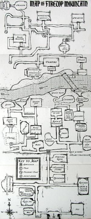 A Tűzhegy térképe a 25. évfordulós kiadásból - Klikkeljen a nagyobb méretért!
