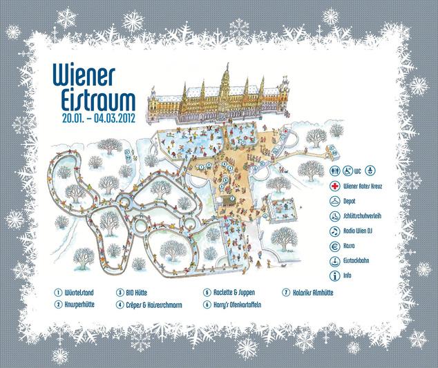 A Bécsi Jégvarázs térképe