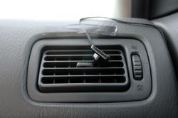 A befúvott levegő hőmérsékletének mérése