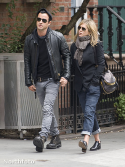 Justin Theroux és Jennifer Aniston New Yorkban, 2011. szeptember