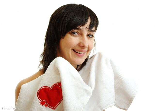 stockfresh 1521943 beautiful-girl-in-white-towel-with-red-heart
