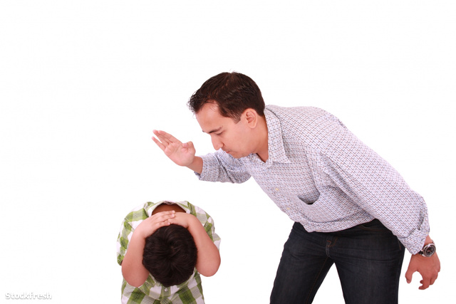 stockfresh 1278531 dad-scolding-his-son-father-with-son-isolated