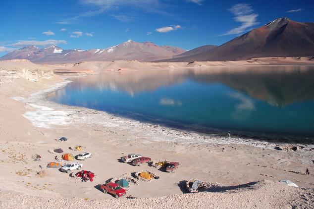Puna de Atacama: Tábor a völgyben