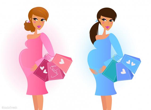 stockfresh 601692 pregnant-women-awaiting-baby-boy-and-baby-girl