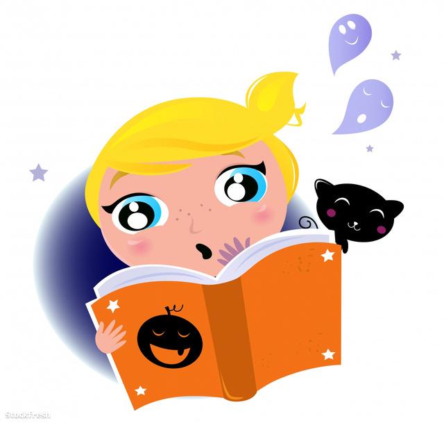 stockfresh 1235906 cute-little-kid-reading-halloween-story-book