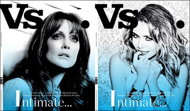 Julianne Moore és Lizzy Olsen a Vs. Magazin címlapján